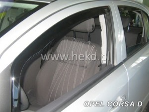 Wind deflectors OPEL Corsa D / E 5d 09.2006-> (rear deflectors included)