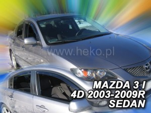 Wind deflectors MAZDA 3 I 4d 08.2003-2009 sedan (rear deflectors included)