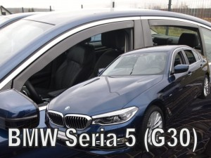 Wind deflectors BMW 5 G30 4d 2017-> sedan (rear deflectors included)