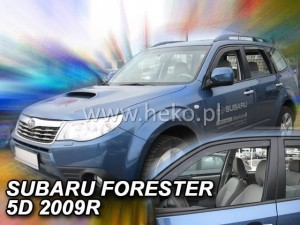 Wind deflectors SUBARU Forester III SH 5d 2008-2013 (front only)