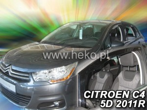 Wind deflectors CITROEN C4 II 5d 2010->