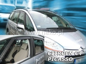 Wind deflectors CITROEN C4 Picasso Mk1 5d 2006-2013 (rear deflectors included)