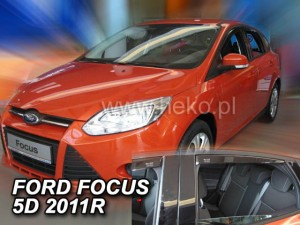 Wind deflectors FORD Focus MK3 4/5d 2011-2018 htb sedan (rear deflectors included)