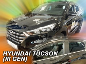 Wind deflectors HYUNDAI Tucson III 5d 2015-> (rear deflectors included)
