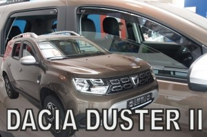 Wind deflectors DACIA Duster II 5d 2018-> (rear deflectors included)