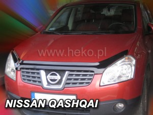 Wind deflector for front windscreen NISSAN Qashqai I (+2) 2007-2010 (mounted with clips)