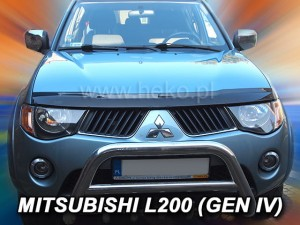 Wind deflector for front windscreen MITSUBISHI L-200 2006-2016 (mounted with clips)