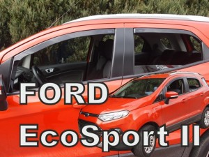 Wind deflectors FORD Ecosport II 5d 2013-> (rear deflectors included)