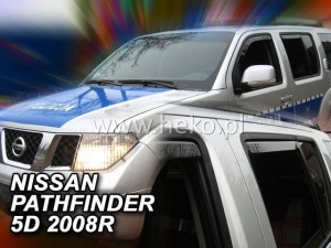Wind deflectors NISSAN Pathfinder R51 5d 2005-2012 (rear deflectors included)