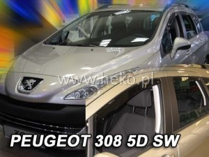 Wind deflectors PEUGEOT 308 I 5d SW 2008-2013 wagon (rear deflectors included)