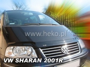 Wind deflector for front windscreen VOLKSWAGEN Sharan 5d 2000-2010 (mounted with clips)