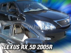 Wind deflectors LEXUS RX II 5d 2003-2009 (XU30) (rear deflectors included)