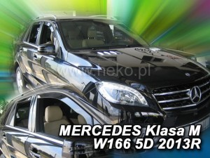 Wind deflectors MERCEDES M W166 5d 2011-> (rear deflectors included)
