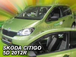 Wind deflectors VOLKSWAGEN UP! 5d 2012-> / SKODA Citigo 5d 2012-> / SEAT Mii 5d 2012-> (front only)