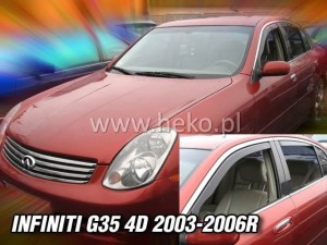 Wind deflectors INFINITI G35 4d 2003-2006 (rear deflectors included)