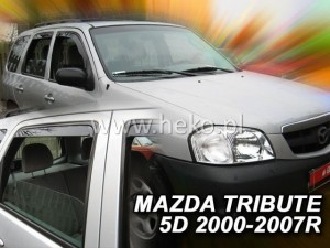 Wind deflectors MAZDA Tribute 5d 2000-2008 (rear deflectors included)
