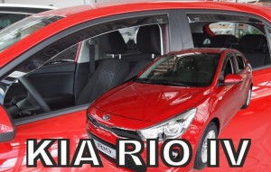 Wind deflectors KIA RIO IV 5d 2017-> (rear deflectors included)