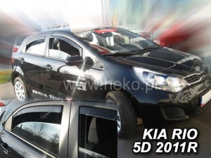 Wind deflectors KIA Rio III 5d 2011-2017 htb (rear deflectors included)