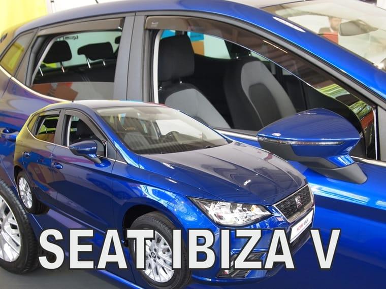 SEAT IBIZA mk5 CUPRA  3-DOOR 2008-2017  WIND DEFLECTORS  2pc HEKO TINTED