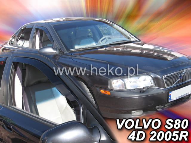 HEKO wind deflectors FULL 4 pieces set VOLVO S80 mk1 4 doors saloon 1998-2006