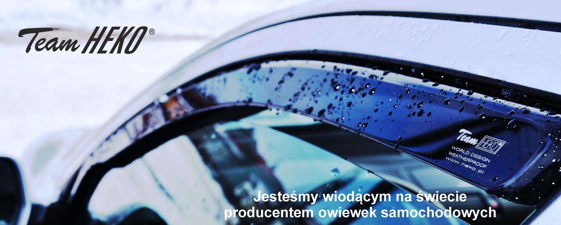 SET OF FRONT HEKO TINTED WIND DEFLECTORS for BMW X2 F39 5 DOOR 2018-up 2pc